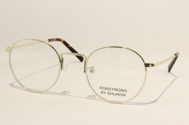 シュロン ロンストロング メガネ ゴールド サイズ48 SHURON RONSTRONG Gold Size48 (UVカットレンズ付き)