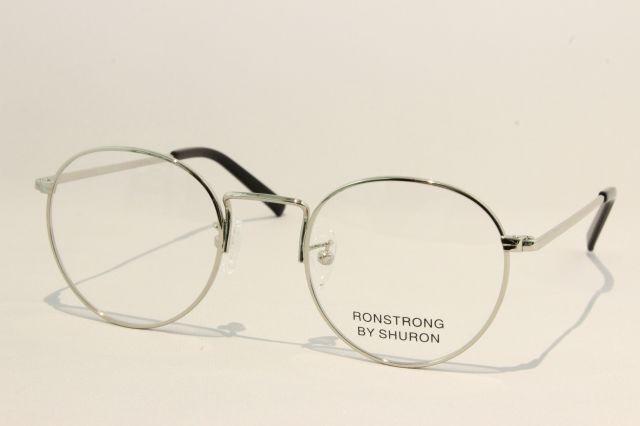 シュロン ロンストロング メガネ シルバー サイズ48 SHURON RONSTRONG Silver Size48 (UVカットレンズ付き)