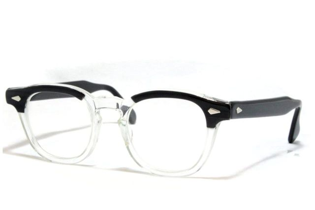 【送料無料】TART OPTICAL ARNEL BLACK WOOD 46/20 1950's Dead Stock タートオプチカル アーネル ヴィンテージメガネ