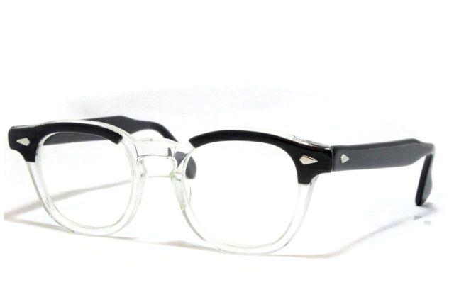 【送料無料】TART OPTICAL ARNEL BLACK WOOD 46/20 1950's Dead Stock タートオプティカル アーネル ヴィンテージメガネ