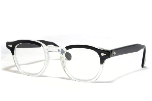 【送料無料】TART OPTICAL ARNEL BLACK WOOD 46/24 1950's Dead Stock タートオプティカル アーネル ヴィンテージメガネ