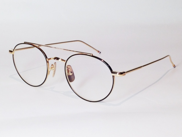 THOM BROWNE(トム ブラウン) TB-101-D-T-BLK-GLD-49 ( BLACK IRON-12K GOLD)