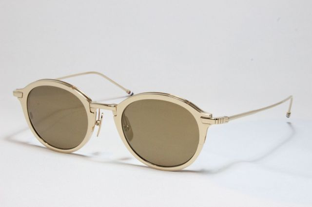 THOM BROWNE(トム ブラウン)TB-110 White Gold w/ Dark Brown- Gold Mirror-AR