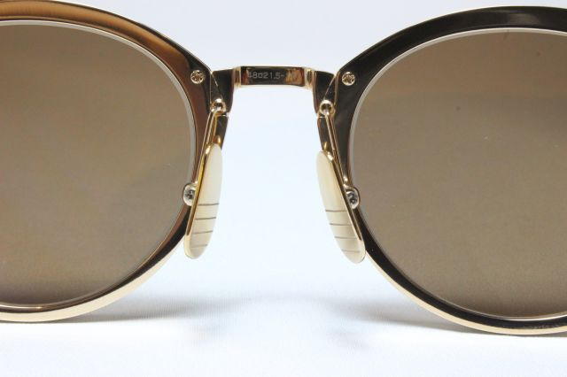f063db9c38e  送料無料  THOM BROWNE(トム ブラウン)TB-110 White Gold w  Dark Brown- Gold Mirror-AR