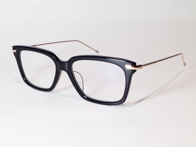 【送料無料】 THOM BROWNE(トム ブラウン) TB-701-A-BLK-GOLD-53 ( BLACK - 12k GOLD / CLEAR LENS)
