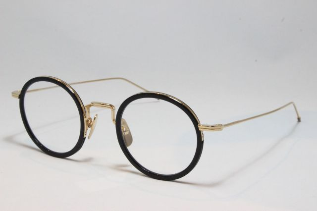 THOM BROWNE(トム ブラウン)TBX-906-46-01 (BLK-GLD / CLEAR LENS)