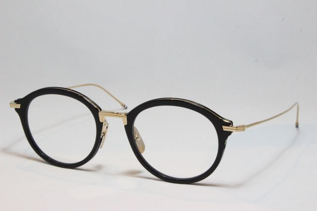 THOM BROWNE(トム ブラウン)TBX-908-49-01 (BLK-GLD / CLEAR LENS)