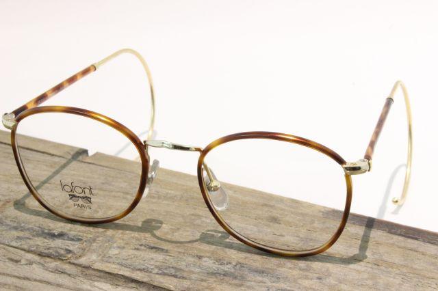 【送料無料】vintage デットストック 1980s  【MADE IN FRANCE】 老舗 LAFONT(ラフォン) 縄手 ヴィンテージ メガネ