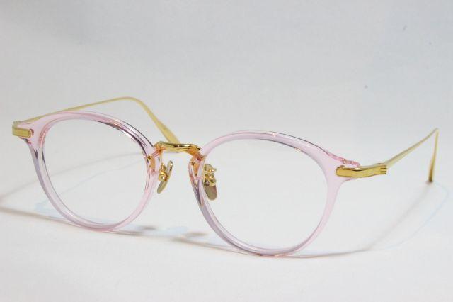 ユエン アイウェアー メガネ クリアフレーム ピンク 日本製 YUENN EYEWEAR YE-013  Clear Pink (UVカットレンズ付き)