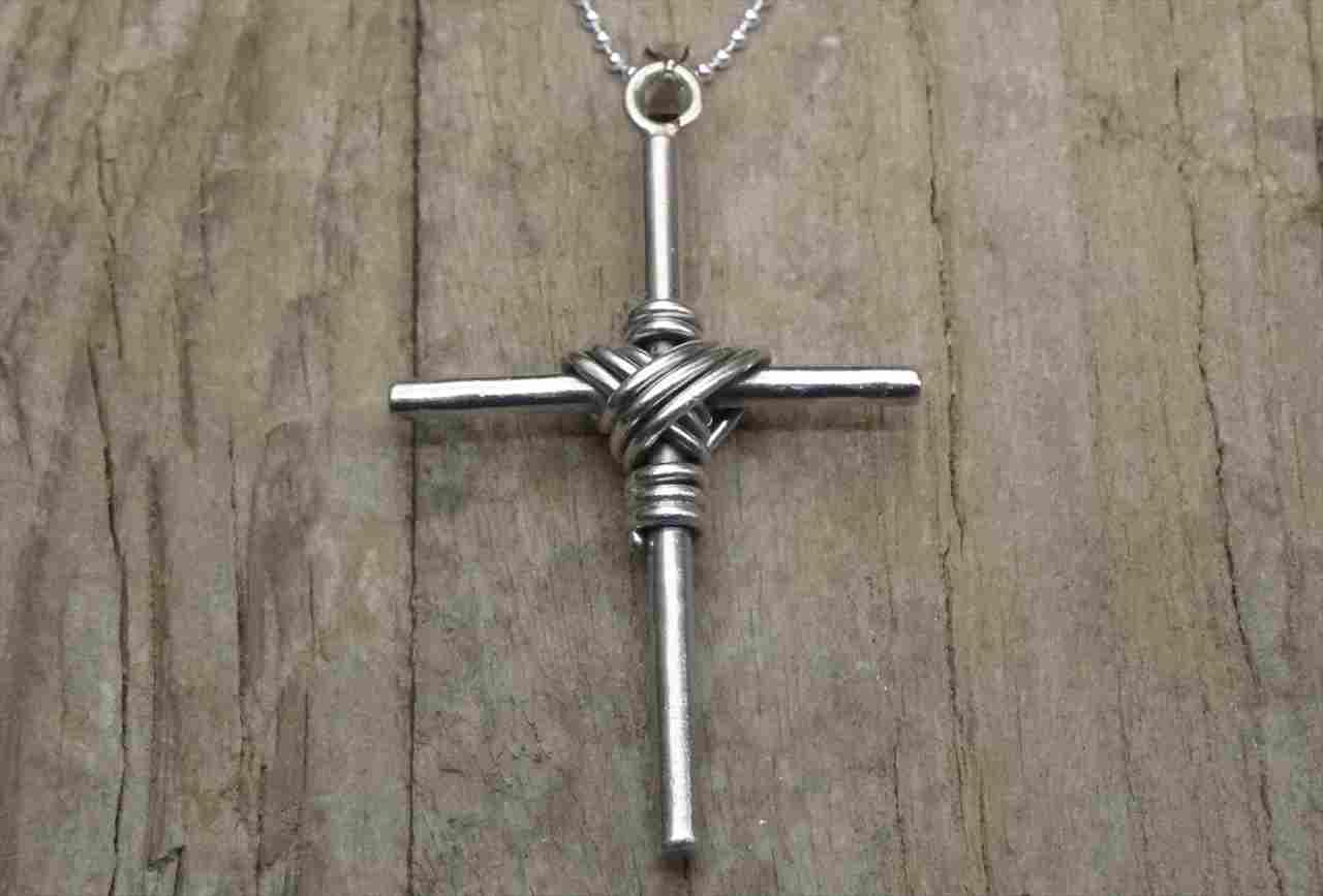ヴィンテージ スターリング シルバー ネックレス クロス (N016) Vintage  Silver 925 Necklace