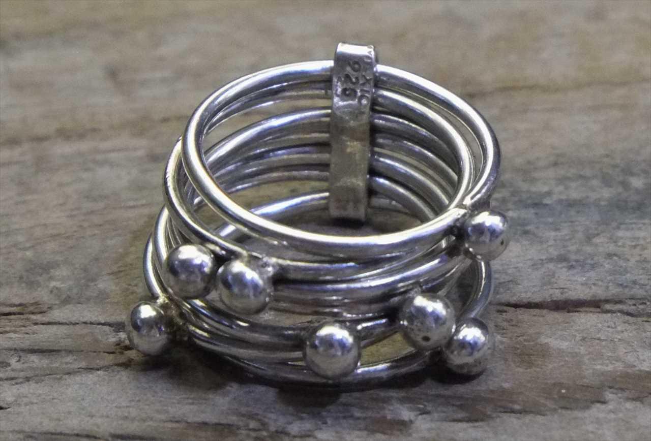 【送料無料】Vintage Mexican Silver 925 Ring (R019) ヴィンテージ シルバー アクセサリー リング