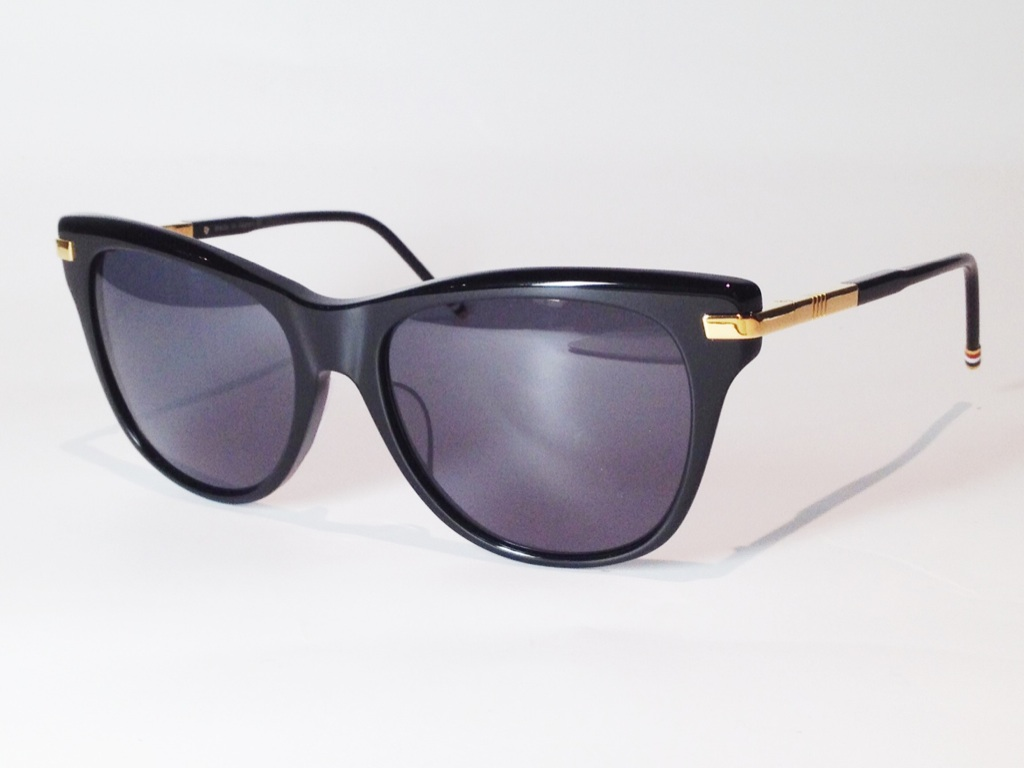 【送料無料】 THOM BROWNE(トム ブラウン) TB-506-A-BLK-GOLD-56 ( BLACK - GOLD / DARK GREY LENS)