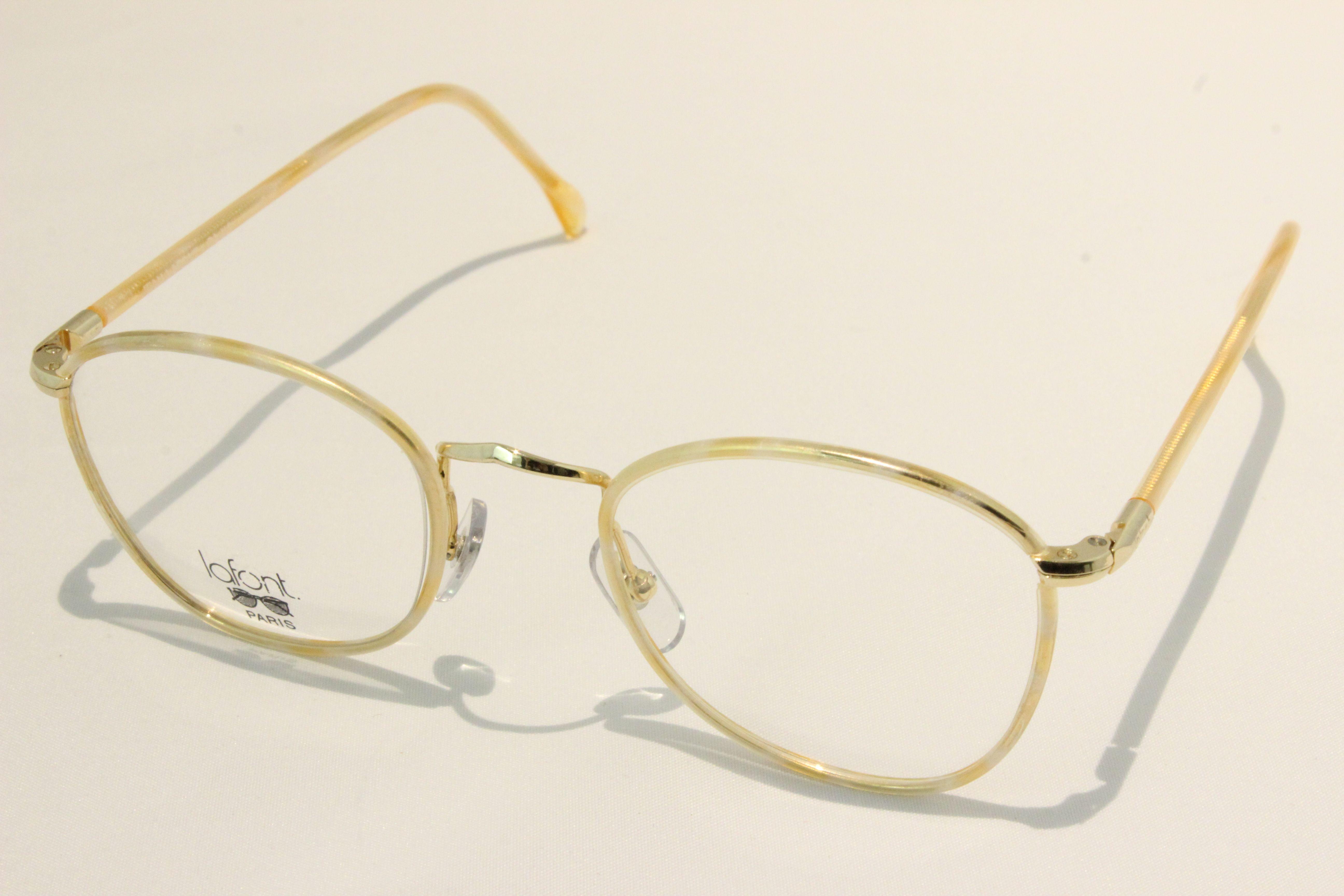 【送料無料】vintage デットストック 1980s MADE IN FRANCE 老舗 LAFONT(ラフォン) セル巻 コンビネーション ヴィンテージ メガネ