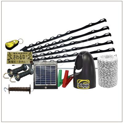3段張り仕様 家庭菜園用簡易電気さくソーラーセット