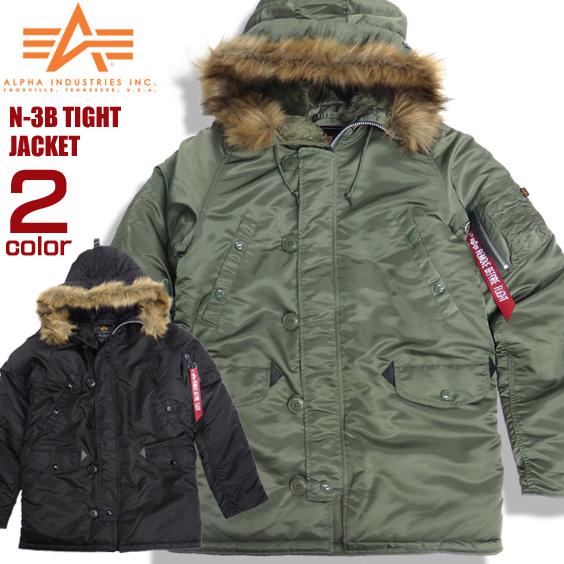 ALPHA N-3B タイト フライトジャケット アルファインダストリーズ タイトN-3B ジャケット ALPHA-021