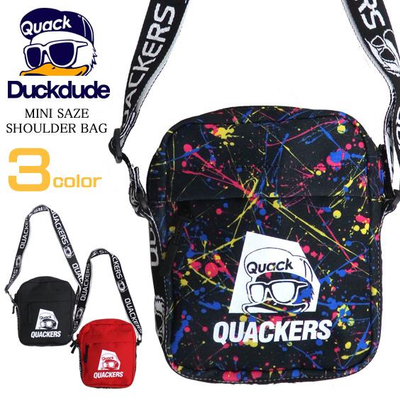 DUCK DUDE バッグ ロゴテープ ショルダーバッグ ダックデュード ミニショルダー メンズ レディース BAG-080
