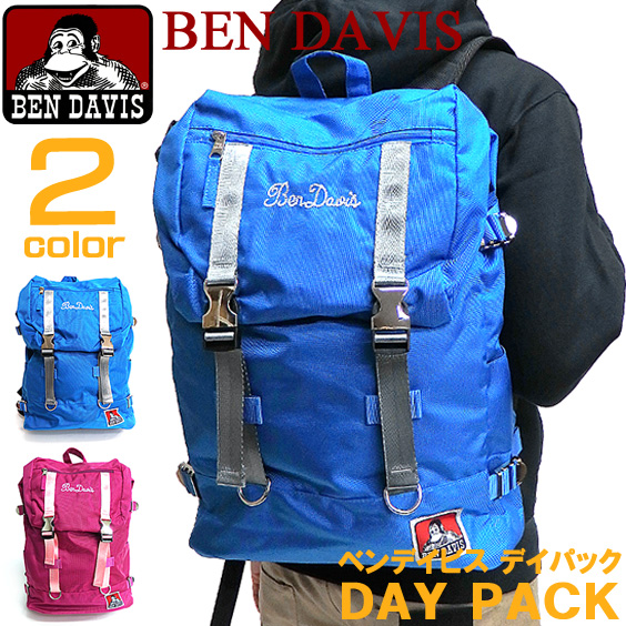 BEN DAVIS バックパック ベンデイビス デイパック メタルバックル ロゴ刺繍 リュックサック BEN-1105