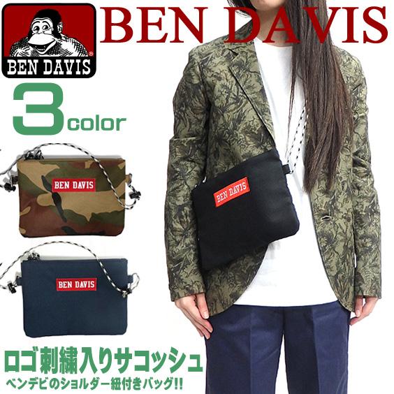 BEN DAVIS バッグ ベンデイビス サコッシュ ロゴ刺繍 メンズ レディース ベンデビ カバン BEN-1115