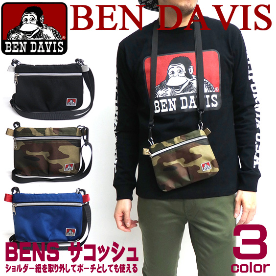 BEN DAVIS バッグ ベンデイビス サコッシュ ベンデービス ショルダーバッグ メンズ レディース BEN-1118