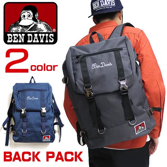 BEN DAVIS バックパック ベンデイビス リュックサック メンズ レディース メタルバックルデイパック BEN-1124
