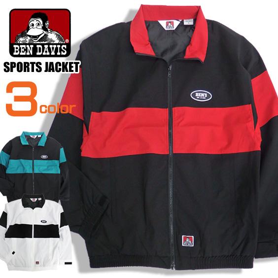 BEN DAVIS ジャケット バイカラー スポーツジャケット メンズ アウター ベンデイビス ゴリラタグ BEN-1243