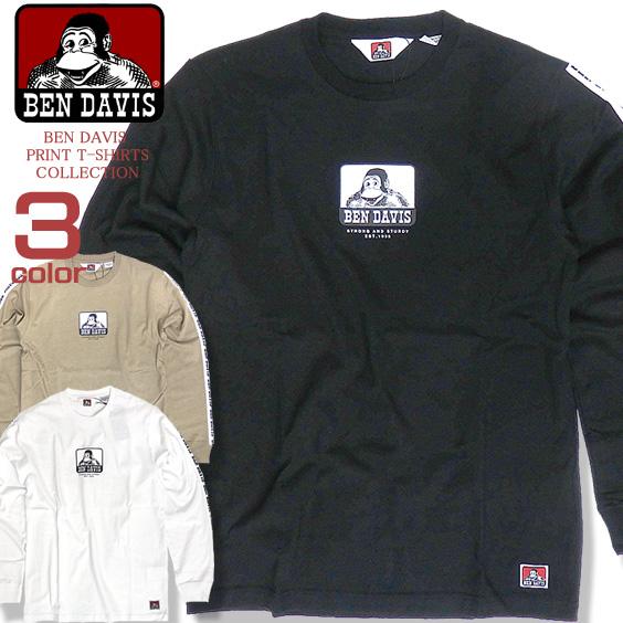 BEN DAVIS Tシャツ ベンデイビス 長袖Tシャツ メンズ ロンT ベンデービス プリントT トップス BEN-1317