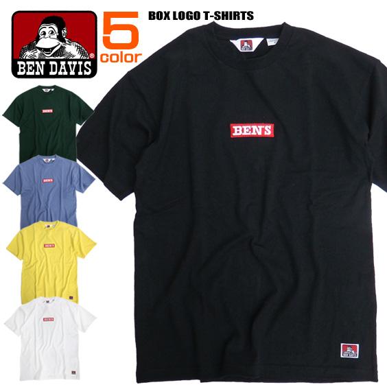 BEN DAVIS Tシャツ BOXロゴ刺繍 半袖Tシャツ メンズ ベンデイビス ロゴ 刺繍 トップス BEN-1323