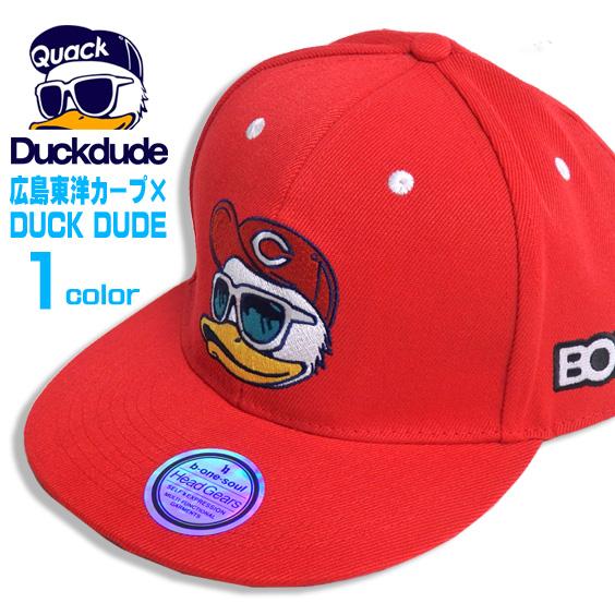 DUCK DUDE キャップ 広島東洋カープ コラボキャップ 刺繍 ダックデュード ビーワンソウル 帽子 CAP-019