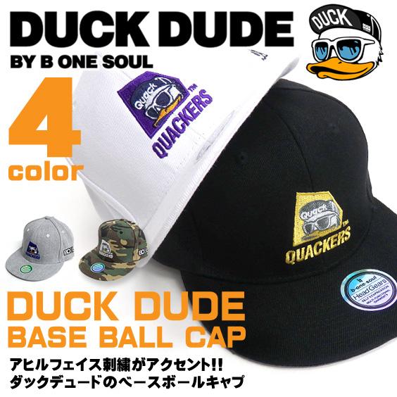 DUCK DUDE キャップ ダックデュード ベースボールキャップ アヒル ロゴ刺繍入り 帽子 ビーワンソウル CAP-048