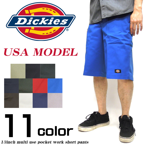 Dickies ハーフパンツ ディッキーズ ショーツ USAモデル ルーズフィット マルチポケット。DICKIES-42283