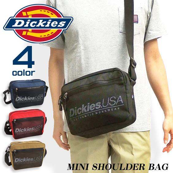 Dickies ショルダーバッグ ディッキーズ 斜め掛けバッグ ロゴ ミニショルダー メッシュポケット DICKIES-575