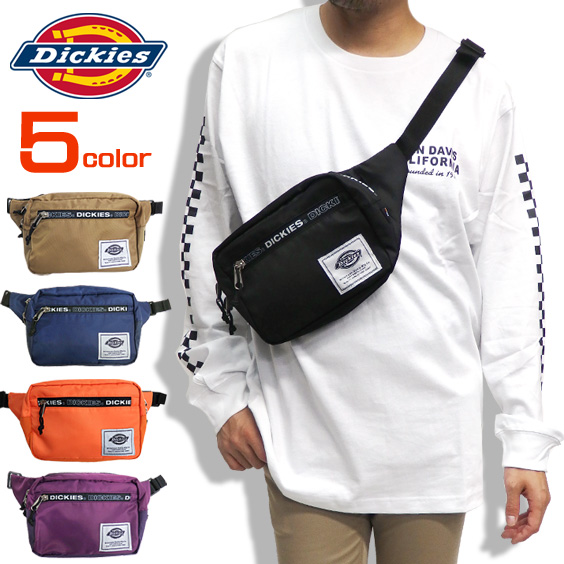 Dickies バッグ ロゴテープ ウエストバッグ ディッキーズ ウエストポーチ メンズ レディース DICKIES-586