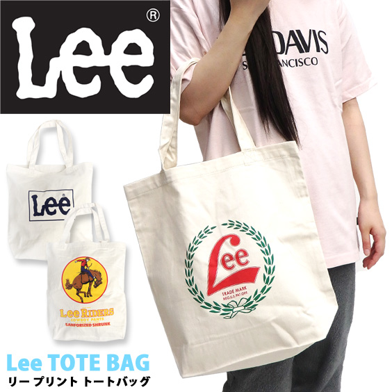 Lee トートバッグ ロゴプリント エコバッグ リー トート バッグ カジュアル ロゴ プリント カバン LEE-020