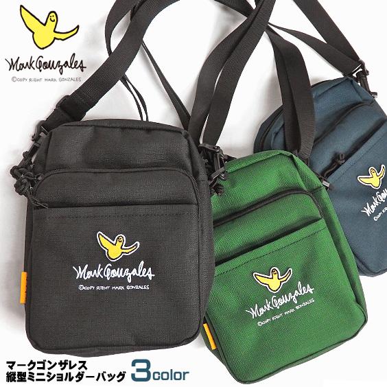 Mark Gonzales ショルダーバッグ ワッペン刺繍 ミニショルダーバッグ 縦型 マークゴンザレス MARK-MGR400
