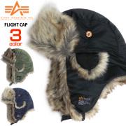 ALPHA キャップ フェイクファー フライトキャップ アルファ パイロットキャップ メンズ 防寒帽子 ALPHA-503