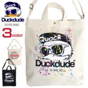 DUCK DUDE バッグ アヒルプリント トートバッグ ダックデュード ショルダーバッグ メンズ レディース BAG-081