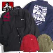 BEN DAVIS ジャケット ゴリラアイコン コーチジャケット アウター ベンデイビス メンズジャケット BEN-1241