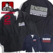 BEN DAVIS コーチジャケット ロゴプリント ジャケット メンズ ナイロンジャケット バックプリント BEN-1245