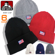 BEN DAVIS ニット帽 国旗ワッペン ベンデイビス ニットキャップ ワッペン付き 帽子 小物アイテム BEN-1261