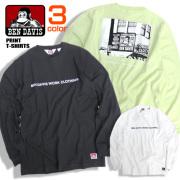 BEN DAVIS Tシャツ フォトプリント 長袖Tシャツ メンズ ロンT ベンデイビス ロゴ トップス BEN-1285