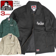 BEN DAVIS ワークジャケット チェーン刺繍 ツイルジャケット メンズ アウター ツイル ベンデイビス BEN-1295