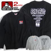 BEN DAVIS トレーナー ゴリラマーク スウェット メンズ ベンデイビス ゴリラ プリント トップス BEN-1304