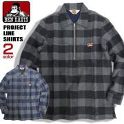 BEN DAVIS PROJECT LINE シャツ ベンデイビス プロジェクトライン ハーフジップシャツ BEN-1309