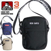 BEN DAVIS ショルダーバッグ ロゴ刺繍 バッグ ベンデイビス ミニショルダー メンズ レディース BEN-1330