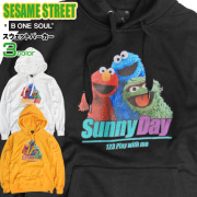 SESAME STREET パーカー セサミストリート スウェットパーカー メンズ キャラクタープリント 裏毛 PKL-333