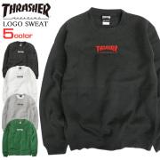 THRASHER トレーナー ロゴ刺繍 スウェット メンズ スラッシャー マグロゴ 裏起毛 THRASHER-058