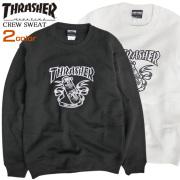 THRASHER トレーナー イラストプリント スウェット メンズ スラッシャー ロゴ 裏起毛 THRASHER-064