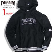THRASHER パーカー ロゴプリント スウェットパーカー 袖ロゴ メンズ スラッシャー マグロゴ THRASHER-069