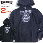 THRASHER パーカー バフォメット スウェット メンズ 裏起毛 スケーター スラッシャー THRASHER-072