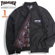 THRASHER ジャケット ロゴ刺繍 ボンバージャケット メンズ MA-1 スラッシャー アウター THRASHER-081